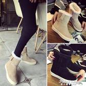 保暖加絨2018新款冬韓版平底甜美中筒雪地靴歐洲站女鞋·蒂小屋