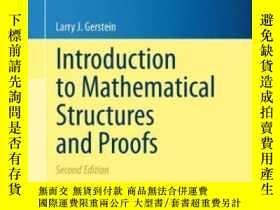 二手書博民逛書店Introduction罕見To Mathematical Structures And Proofs-數學結構與