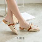 限量現貨◆PUFII-穆勒鞋 正韓金屬釦低跟帆布穆勒鞋 -0324 現+預 春【CP18242】