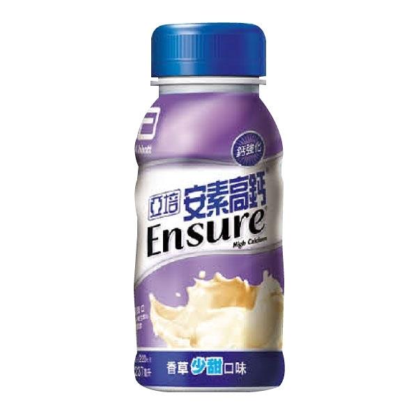 亞培 安素 高鈣鈣強化配方-香草少甜口味 (237ml/24瓶/箱)成箱出貨【杏一】