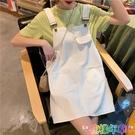 流行女裝新款夏季裙子韓版百搭學生減齡小個子牛仔背帶裙女潮 快速出貨