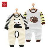 1歲小童衣服純棉睡衣3個月嬰兒春夏季連體衣
