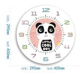 熊貓A款靜音機芯12英寸卡通靜音掛鐘動物時鐘可愛鐘錶兒童房臥室  JQ