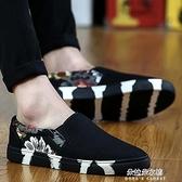 懶人鞋 夏季男鞋百搭潮流帆布休閒板鞋潮鞋一腳蹬懶人老北京布鞋 牛年新年全館免運