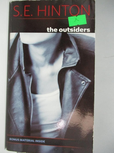 【書寶二手書T5/原文小說_ADT】The Outsiders_S. H. HINTON