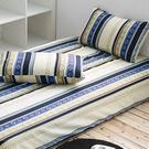 台灣製 三件式枕套床包組-格林學院(藍)...