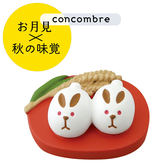Hamee 日本 DECOLE concombre 美食賞月祭 療癒公仔擺飾 (白兔子饅頭) 586-923613