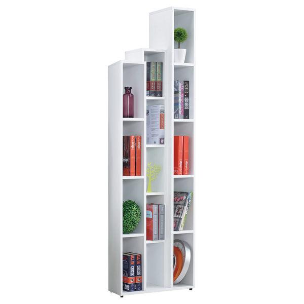 【森可家居】漢克2尺白色開放書櫃 - 右桶 7JF375-3