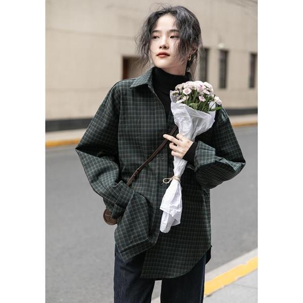 襯衫 女設計感小眾秋款長袖上衣百搭復古港味2020年新款【牛年大吉】