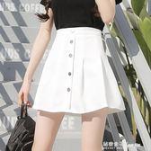 夏季新款超火的高腰半身裙ulzzang百褶裙chic短裙褲裙裙子 秘密盒子