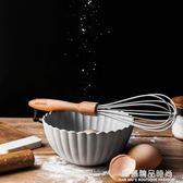 日式櫸木手柄硅膠打蛋器廚房手動雞蛋攪拌器烘焙小工具