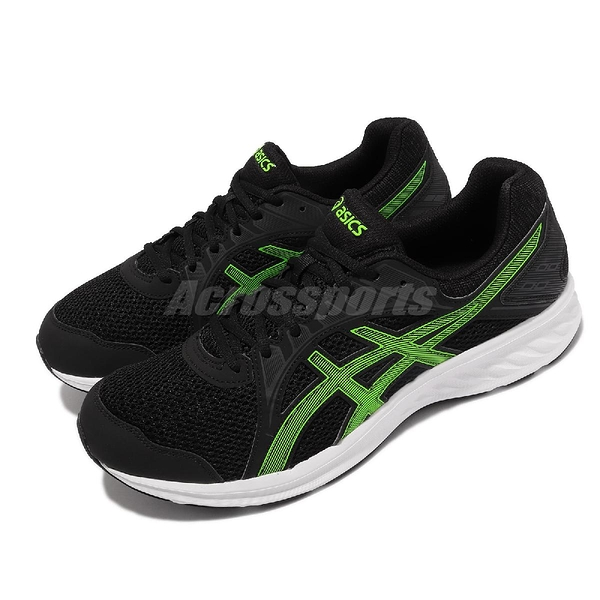 Asics 慢跑鞋 Jolt 2 4E 超寬楦頭 男鞋 黑 綠 基本款 亞瑟士 【ACS】 1011A206006