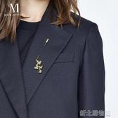 蝴蝶一字胸針ins潮高檔個性氣質胸花復古配飾女韓國西裝別針裝飾 新北購物城