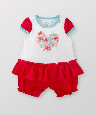 Hallmark Babies 女嬰春夏純棉短袖連身衣外出爬服 HE1-B03-05-BG-PR