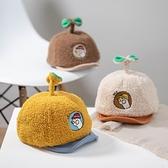 嬰兒帽 秋冬寶寶鴨舌帽卡通保暖百搭帽子可愛超萌女童帽男童軟檐棒球帽潮 歐歐