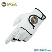 高爾夫手套 美國PGA 高爾夫手套 男士真皮手套 全羊皮 魔術貼防滑 超透氣 快速出貨