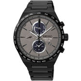 【僾瑪精品】SEIKO 精工 SPIRIT 太陽能 二地時間計時運動錶-黑/41mm-V195-0AE0N/SSC527J1