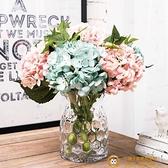 手工波點玻璃花瓶插花瓶 透明擺件創意家居裝飾品【小獅子】