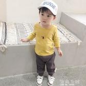 T恤男春秋裝新款新生兒長袖小童上衣打底衫衣服 海角七號