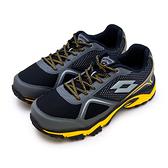 LIKA夢 LOTTO 專業防潑水郊山越野跑鞋 CROSS RUN 跨越叢林系列 黑灰黃 0150 男