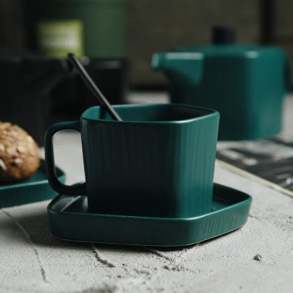 北歐風咖啡具套裝咖啡杯碟下午茶具陶瓷創意簡約咖啡杯套裝冷水壺 挪威森林