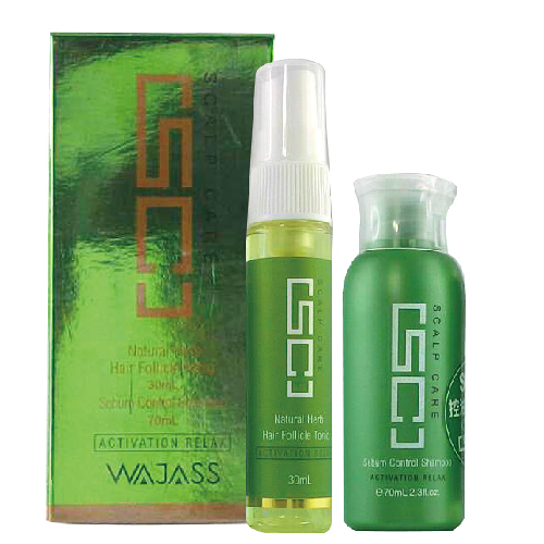WAJASS威傑士 頭皮理療系列  SC8頭皮養護液(頭皮水)30ml+SC2控油洗髮精(清涼)70ml