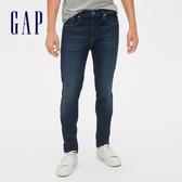 Gap男裝簡約水洗修身五口袋牛仔長褲492723-灰藍