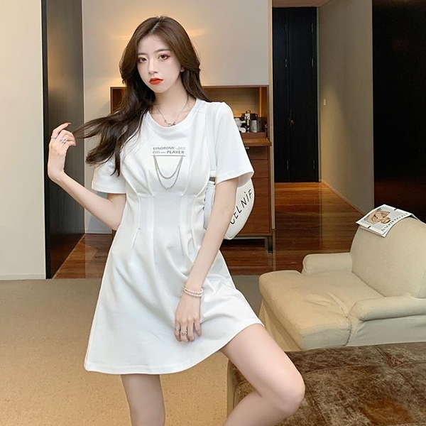 小禮服 2021年新款初戀小白裙禮服設計感小眾高級感法式白色連身裙子女夏 【618 大促】