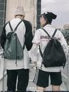 紓困振興 束口包 新款多功能抽繩束口袋男時尚潮流運動休閒健身包書包女雙肩包 東京衣秀