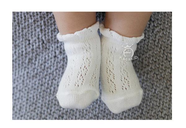 [韓風童品] (5雙入/組)kacakid薄棉網眼襪  寶寶女童棉襪 夏季薄襪 短襪 洞洞襪