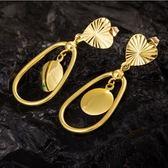 耳環 純銀鍍18K金-心形設計生日情人節禮物女飾品73cx62【時尚巴黎】
