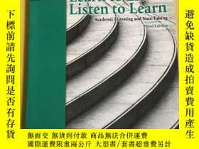 全新書博民逛書店Learnto Listen, Listen to Learn