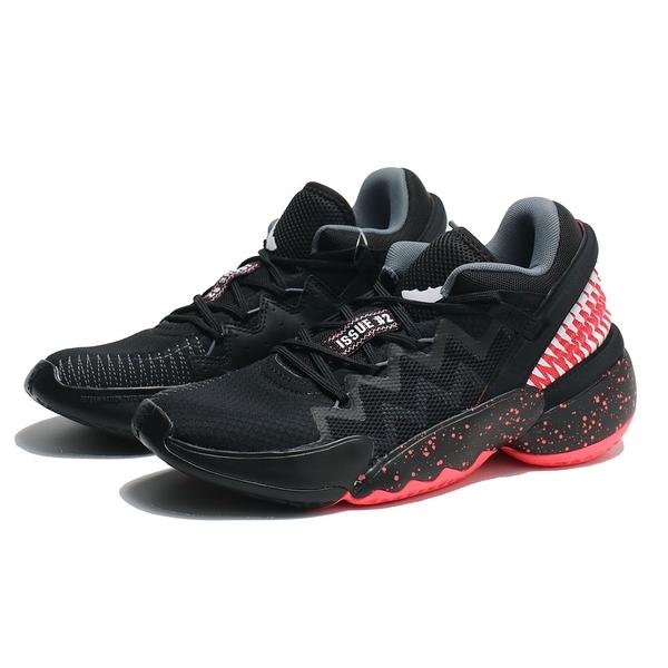 ADIDAS 籃球鞋 D.O.N. ISSUE 2 X VENOM GCA 黑紅 米契爾 猛毒聯名 大童 女 (布魯克林) FW8749