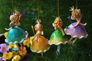 家居裝飾品 歐式田園 樹脂百搭小天使掛件 小公主花仙子