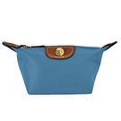 Longchamp Le Pilage 尼龍拉鍊 零錢包 冰藍色