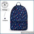 Parkland 後背包 藍色菱形 電腦後背包  簡約休閒背包 Vintage-133 MyBag得意時袋