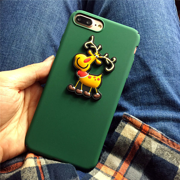 88柑仔店---聖誕老人雪人iphone7plus手機殼蘋果6/6s PLUS全包硬殼保護套