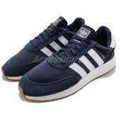 adidas 休閒鞋 I-5923 藍 深藍 白 BOOST 中底 麂皮 復古外型 男鞋 慢跑鞋 運動鞋【PUMP306】 BB2092