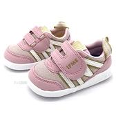 《7+1童鞋》日本 IFME 透氣 魔鬼氈 寶寶機能鞋 學步鞋 D424 粉色