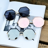 韓版多邊形防紫外線墨鏡女網紅新款鏡面時尚圓臉太陽鏡街拍潮 店慶降價