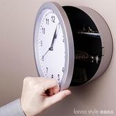 掛鐘創意復古裝飾壁鐘收納保險首飾盒家用客廳個性時鐘 全館新品85折