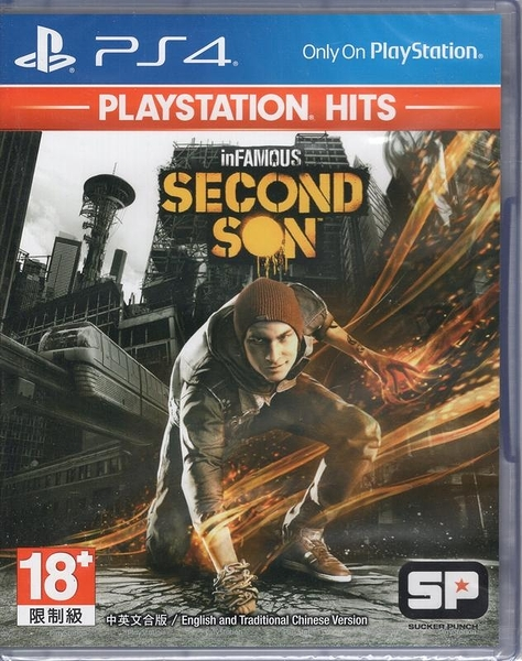 【玩樂小熊】現貨中PS4 遊戲 PlayStation Hits惡名昭彰 第二之子inFAMOUS Secon中文亞版