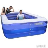 充氣泳池 兒童充氣游泳池加厚超大號嬰兒寶寶家用摺疊游泳桶成人小孩戲水池 ATF 聖誕免運