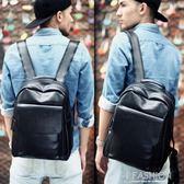 雙肩包男士時尚潮流背包男韓版休閒小旅行包簡約皮質大學生書包潮