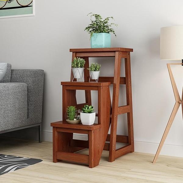 實木梯凳二三步家用摺疊客廳室內多功能登高梯子凳樓梯椅加厚加高WD