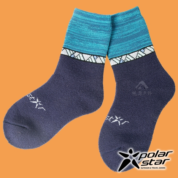 【PolarStar】保暖雪襪『深藍』P18614 露營.戶外.登山.保暖襪.彈性襪.休閒襪.長筒襪.襪子.男版.女版
