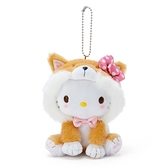 小禮堂 Hello Kitty 絨毛吊飾 柴犬吊飾 玩偶吊飾 玩偶鑰匙圈 (淺棕 調皮柴犬) 4550337-57414