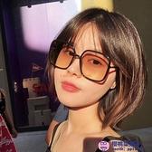 網美同款眼鏡女韓版潮大圓臉顯瘦ig墨鏡偏光太陽鏡開車【櫻桃菜菜子】