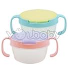 Baby 雙耳點心盒/放置盒/雙把手幼兒食物防漏蓋杯-隨機出