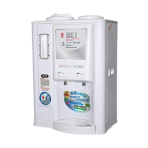 【晶工牌】省電奇機光控智慧溫熱全自動開飲機 JD-3706